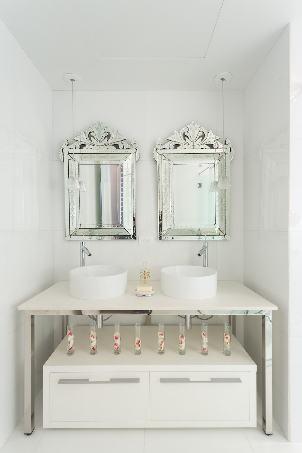 Twin Venetian Mirrors via Philippe Starck