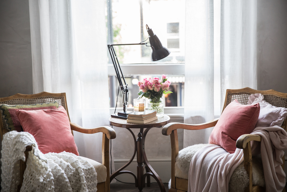 Two sitting chairs in London apartment