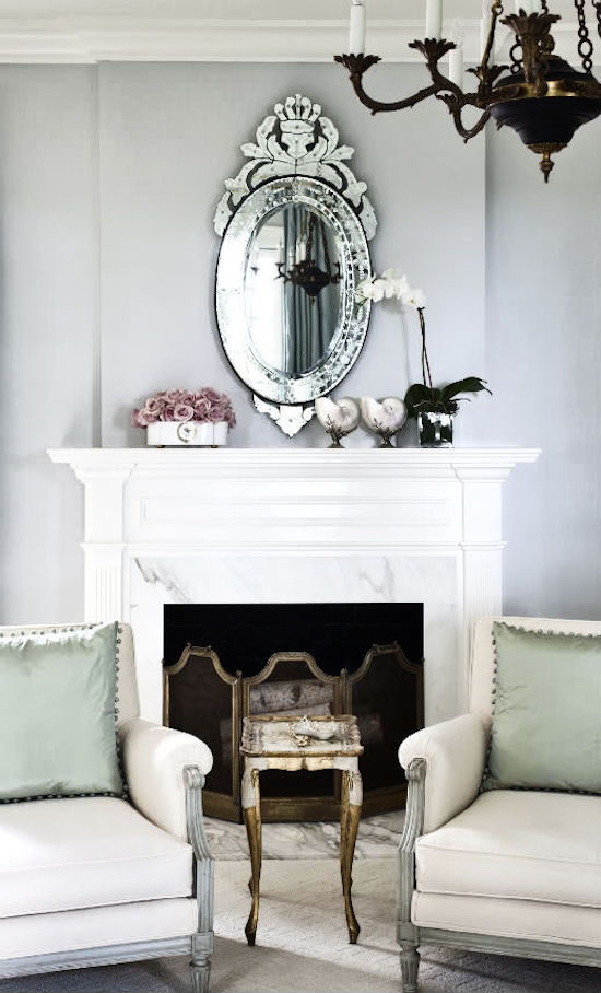 Venetian Mirror via Bear-Hill Interiors