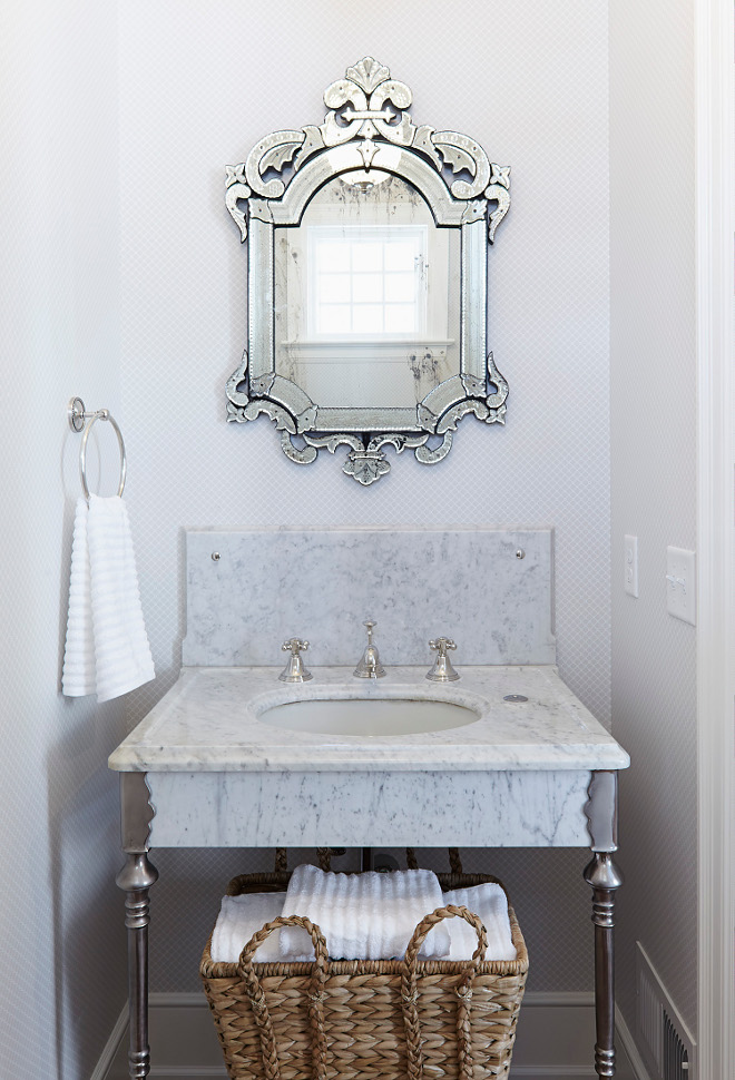 Venetian Mirror via Hendel Homes