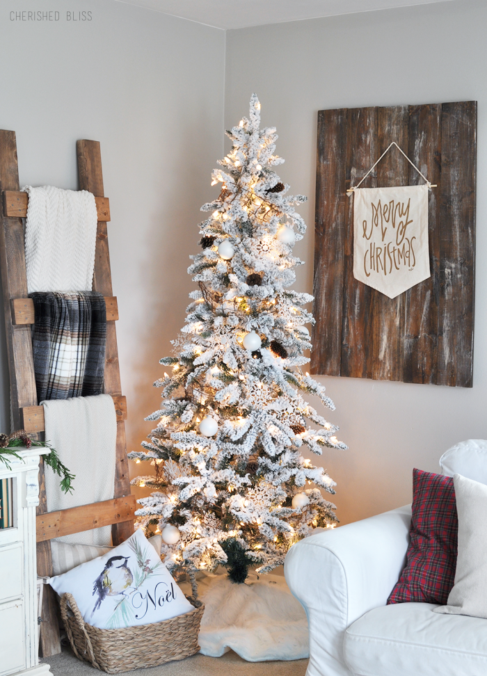 White Christmas Tree via Cherished Bliss
