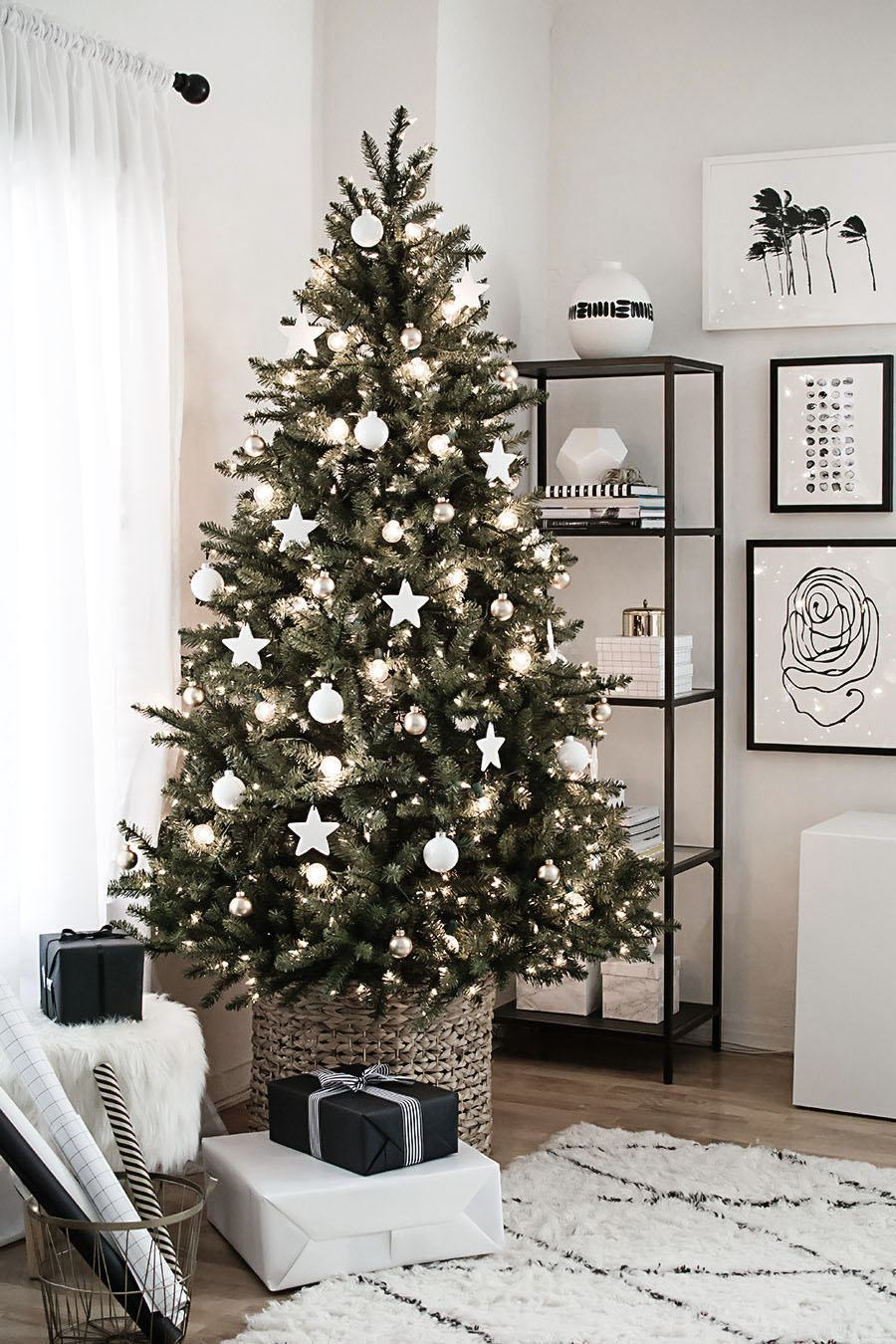 White Christmas Tree via Homey Oh My