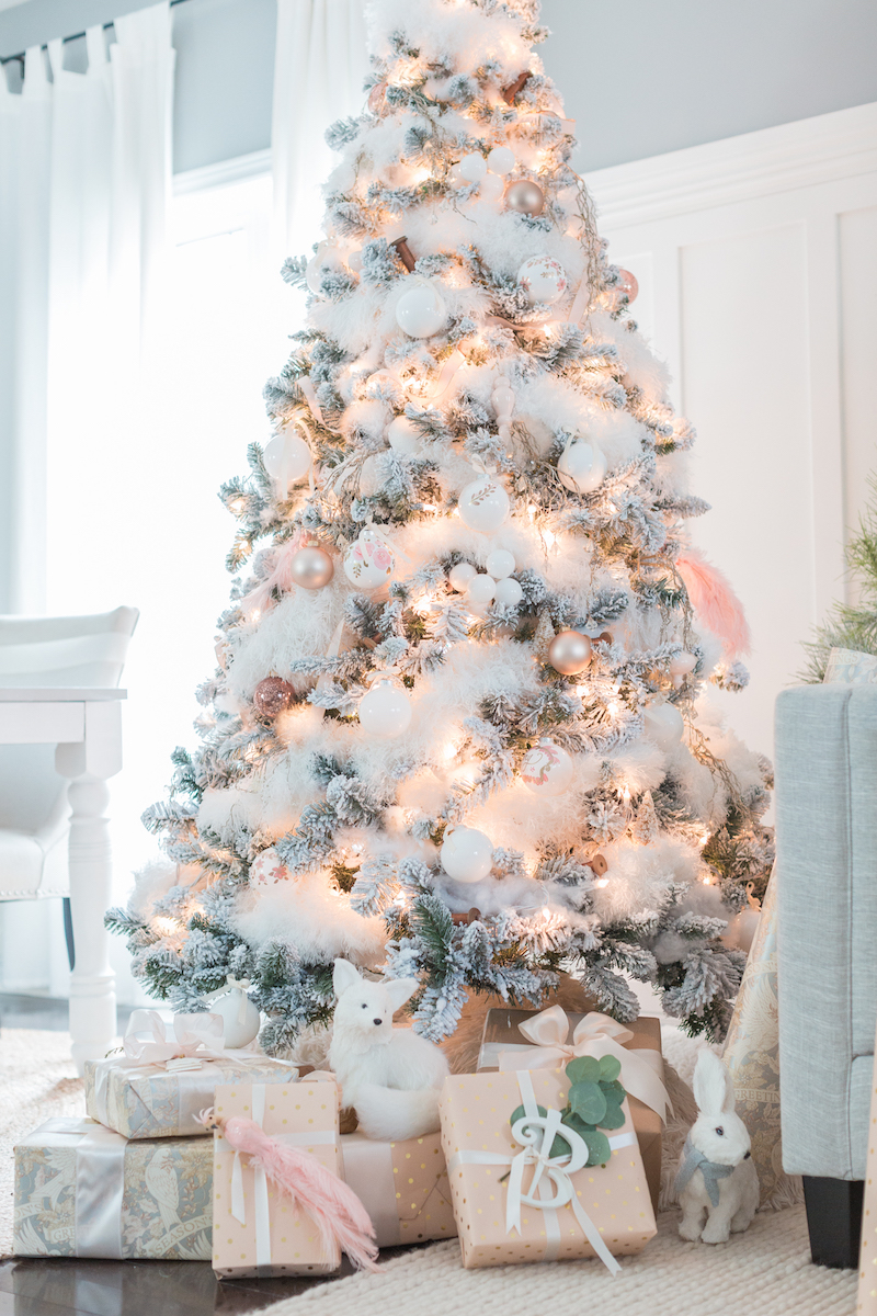 white christmas tree via craftberrybushcom