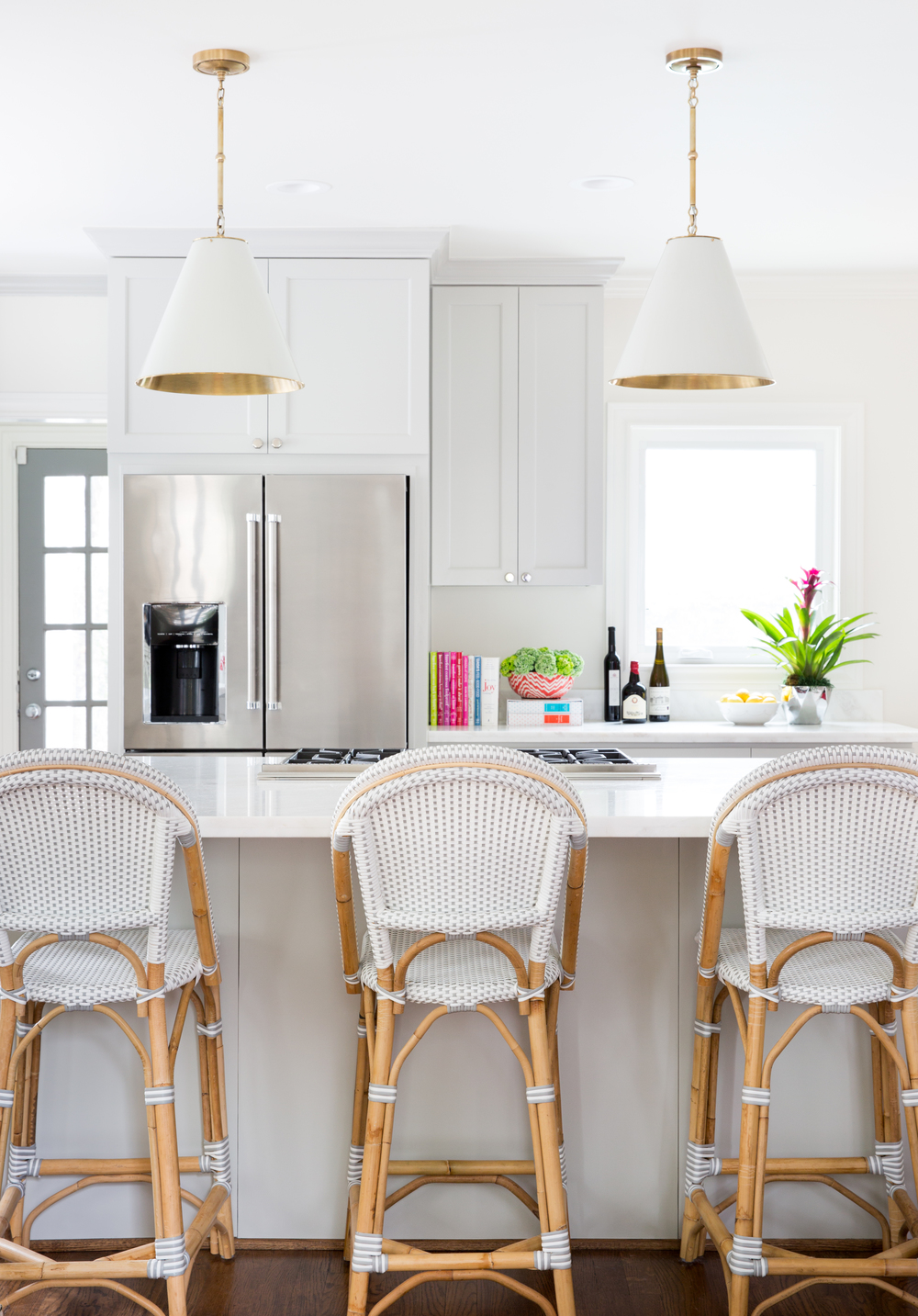 White Kitchen French Bistro Chairs via Jennifer Barron Interiors