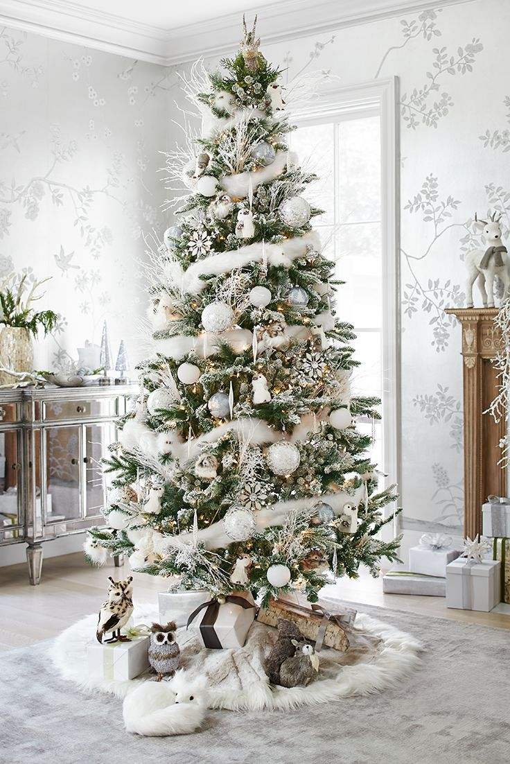 White & Silver Christmas Tree