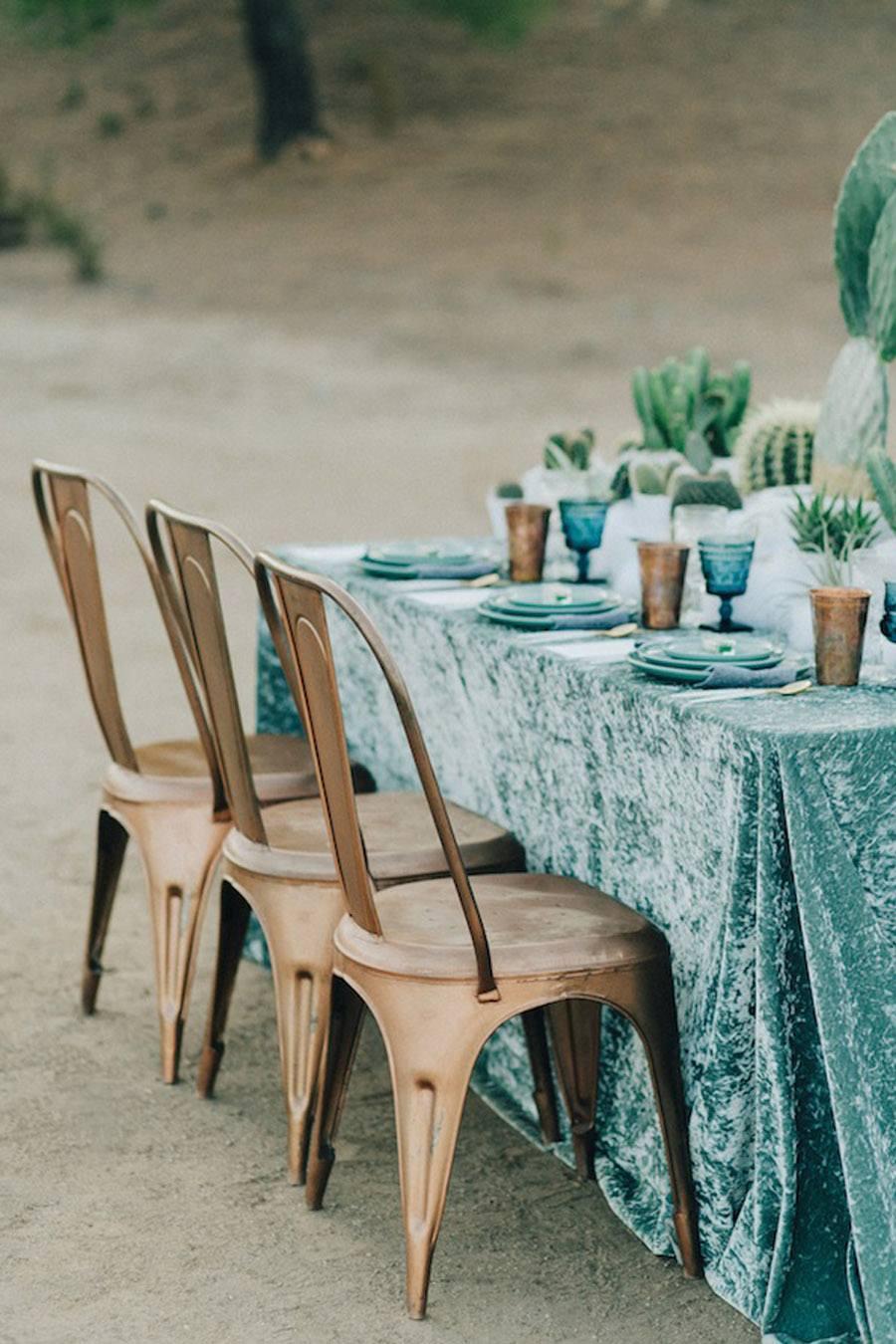 Blue Velvet Tablecloth
