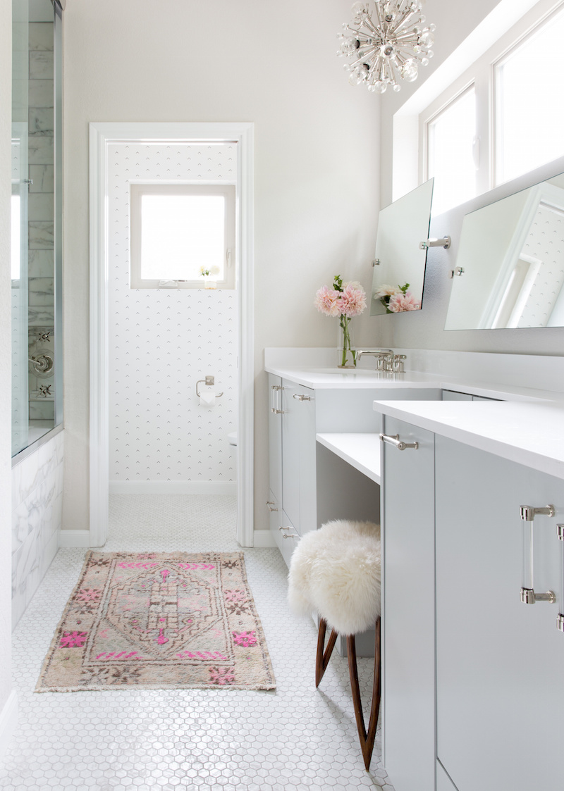 Claire Zinnecker Bathroom with small rug