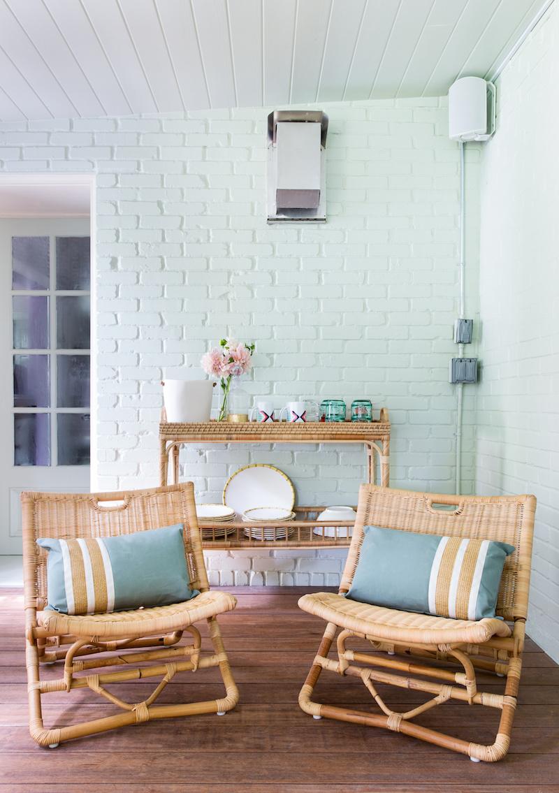 Claire Zinnecker Mint Green Brick Wall
