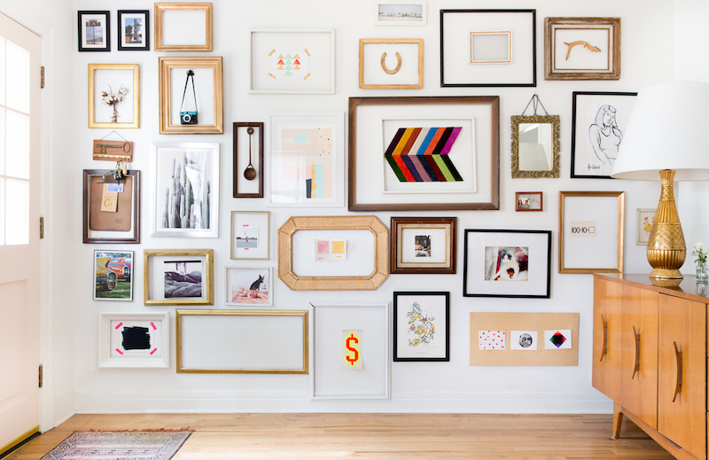 Claire Zinnecker White and Brown Gallery Wall