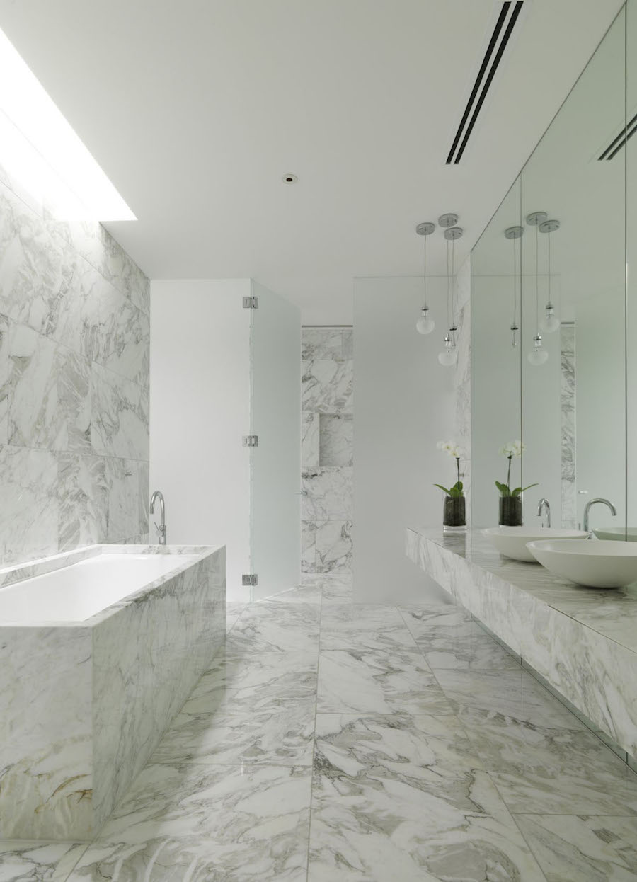 Fully Marble Bathroom with Tub
