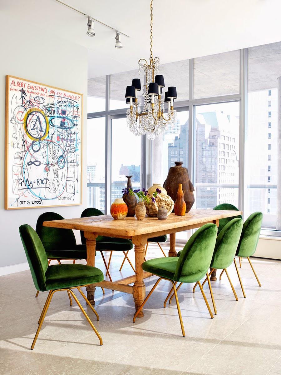 Green Velvet Dining Room Chairs