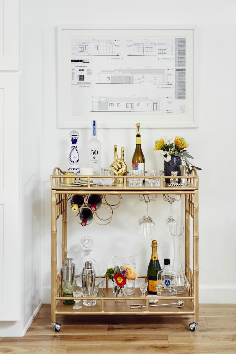 Jacey Duprie's Barcart via Damsel in Dior