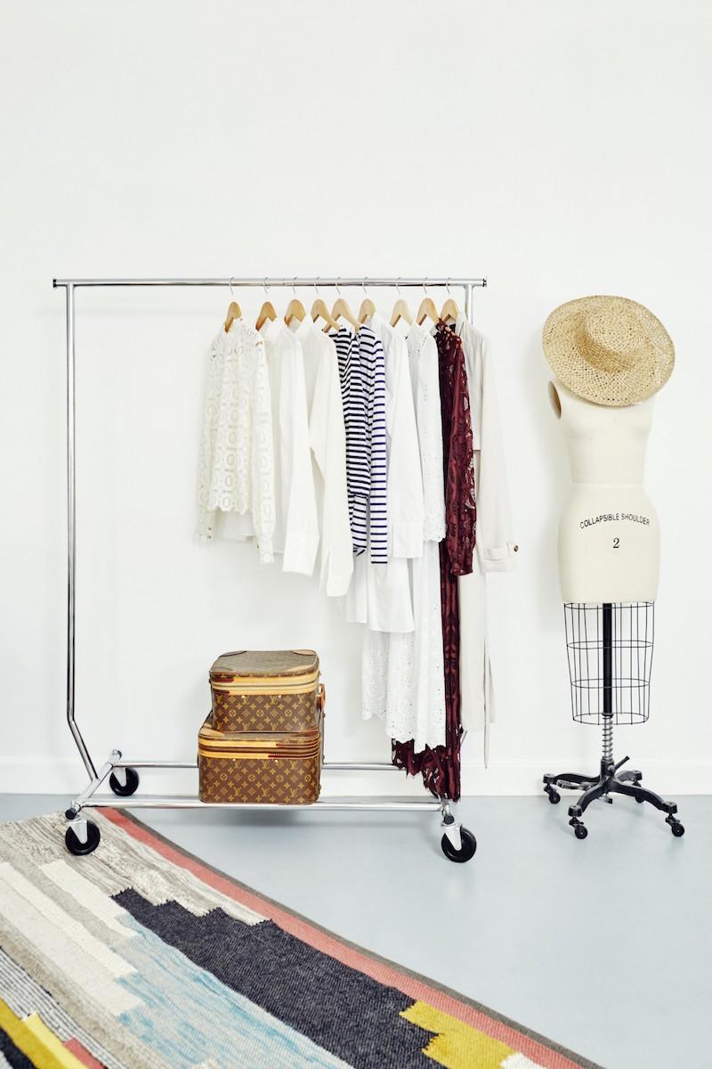 Jacey Duprie's Clothing Rack via Damsel in Dior