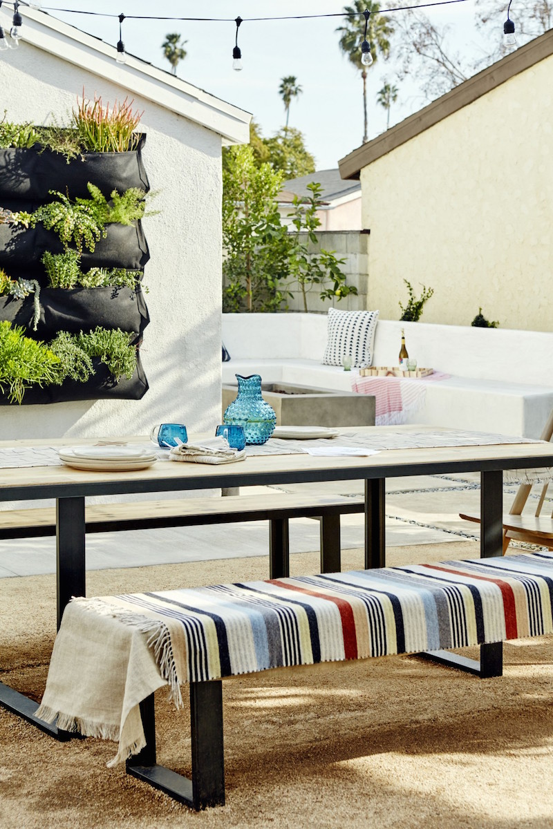 Jacey Duprie's Outdoor Table and Bench via Damsel in Dior