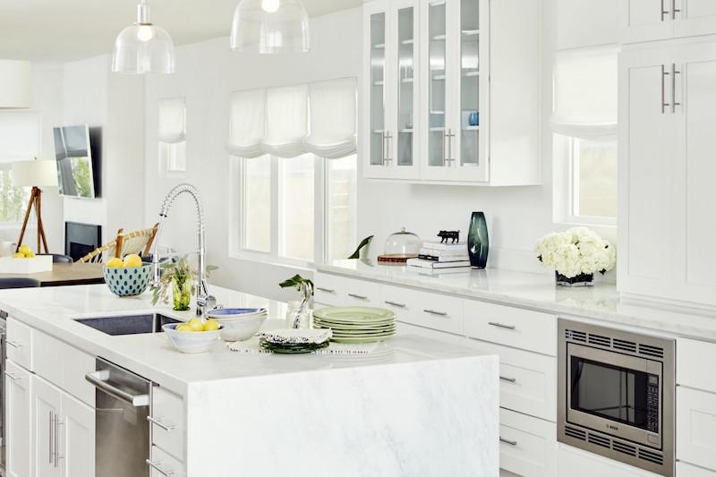 Jacey Duprie's White Kitchen via Damsel in Dior