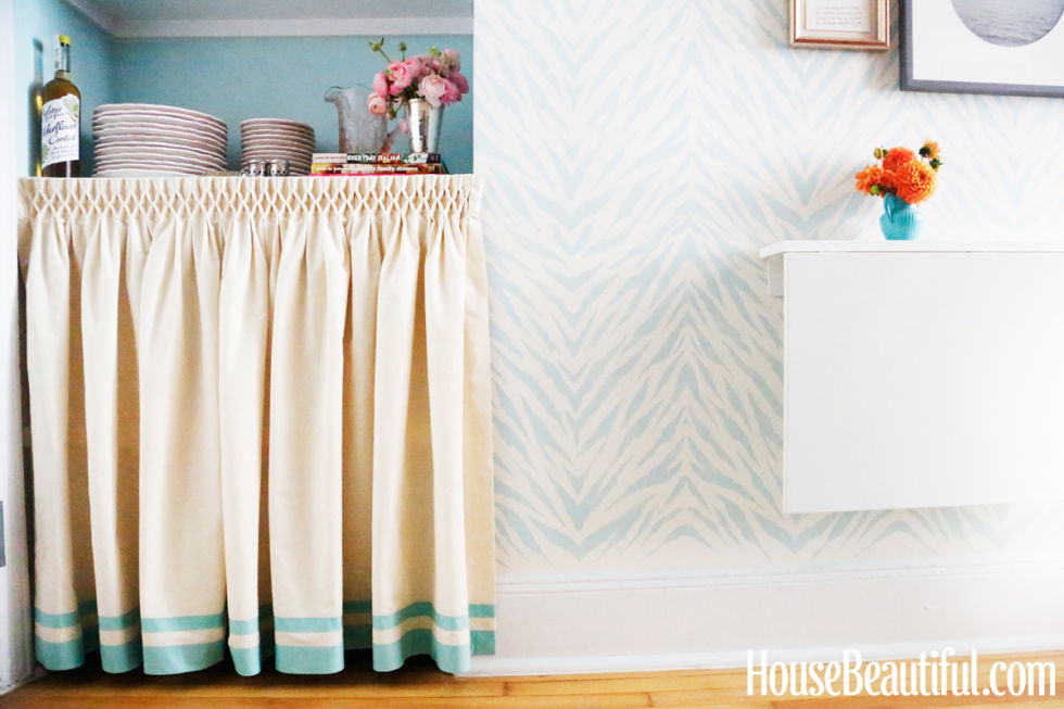 Kitchen Space with Curtain