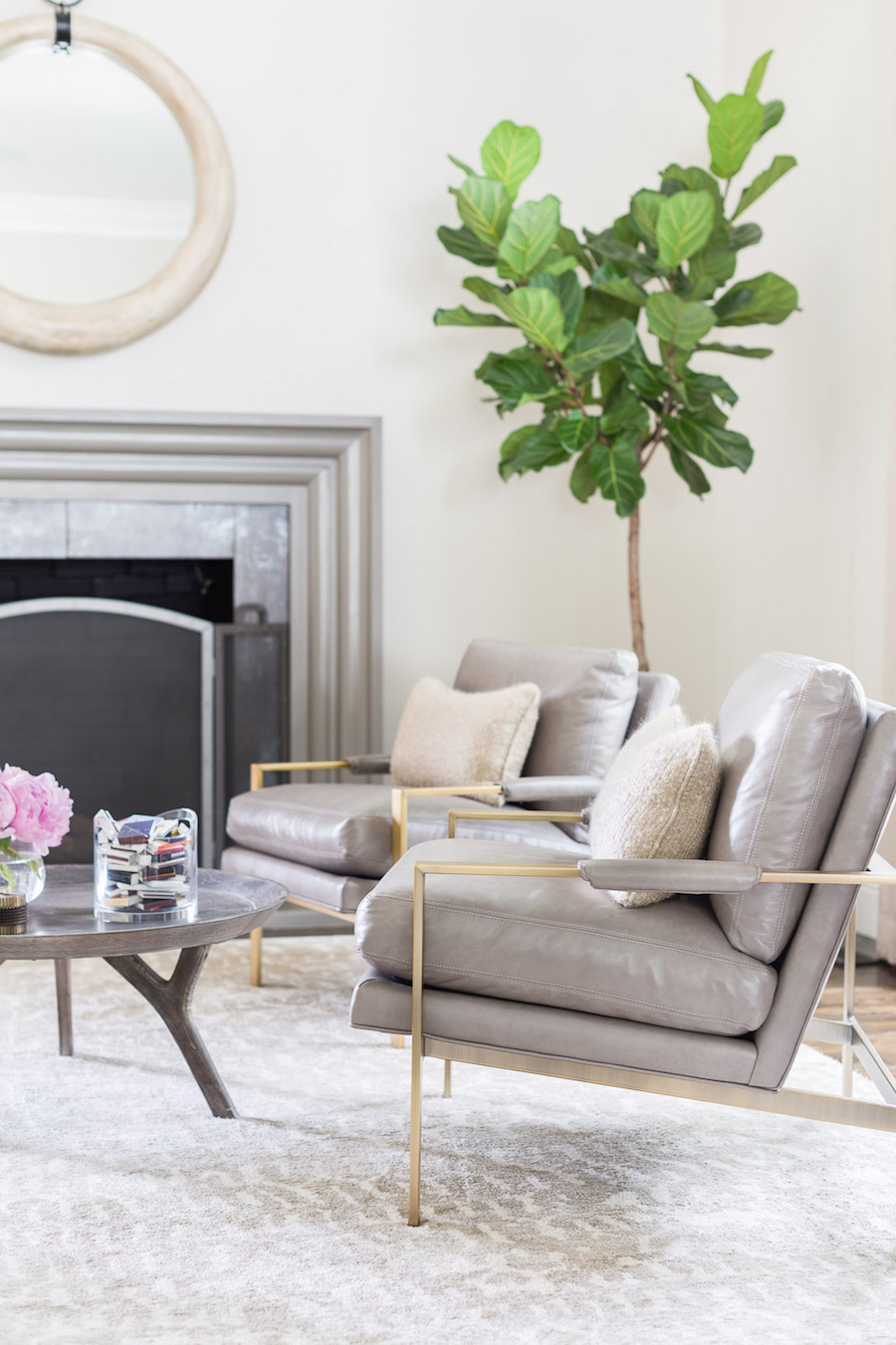 Grey seating in a Living Room by Amanda Barnes