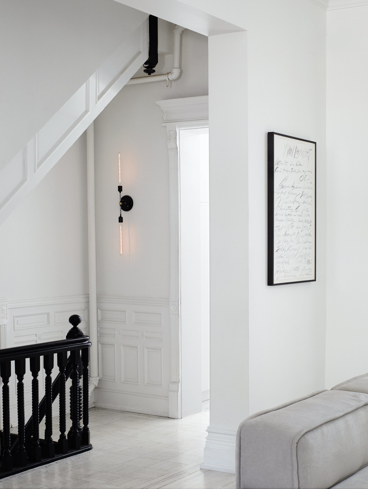 Minimal Brooklyn Retreat with Black Staircase