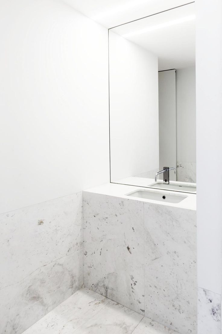 Minimal Solid Marble Sink