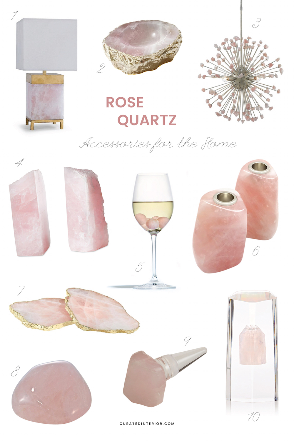 Lovely Rose Quartz Decor For Your Home!!