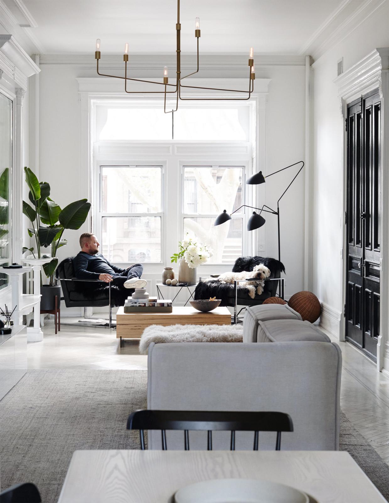 Scandinavian Grey Couch in a Minimal Brooklyn Retreat