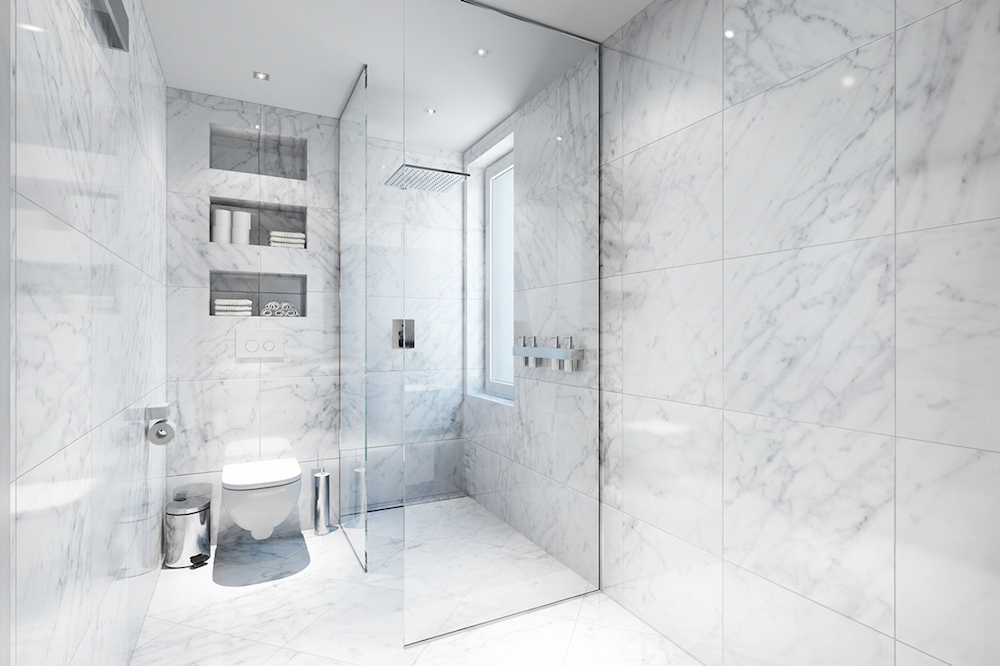 34 stunning marble bathrooms with silver fixtures rh curatedinterior com white and grey bathrooms with marble bathroom ideas with white marble