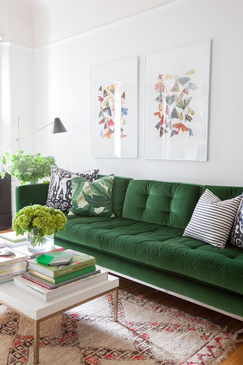 30 Lush Green Velvet Sofas In Cozy Living Rooms