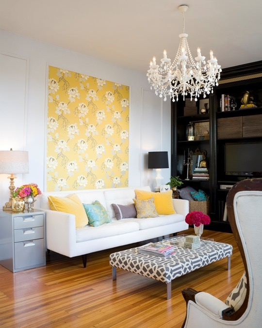 Yellow Art via Apartment Therapy