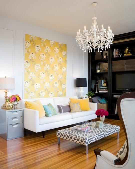 Yellow Art via Apartment Therapy
