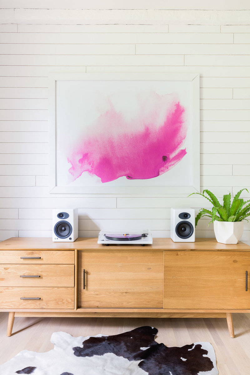 Abstract pink art by Alyssa Rosenheck