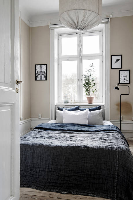 Bedroom in swedish apartment