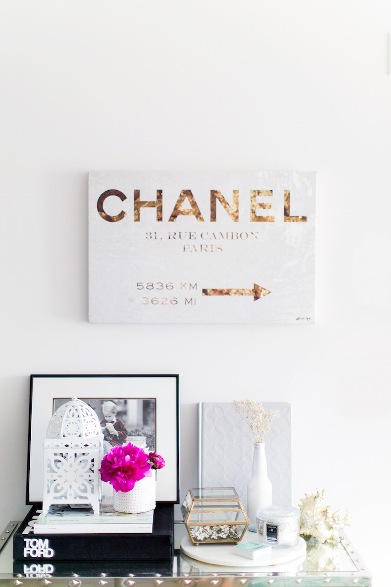 Chanel Sign in Olive & Piper Office
