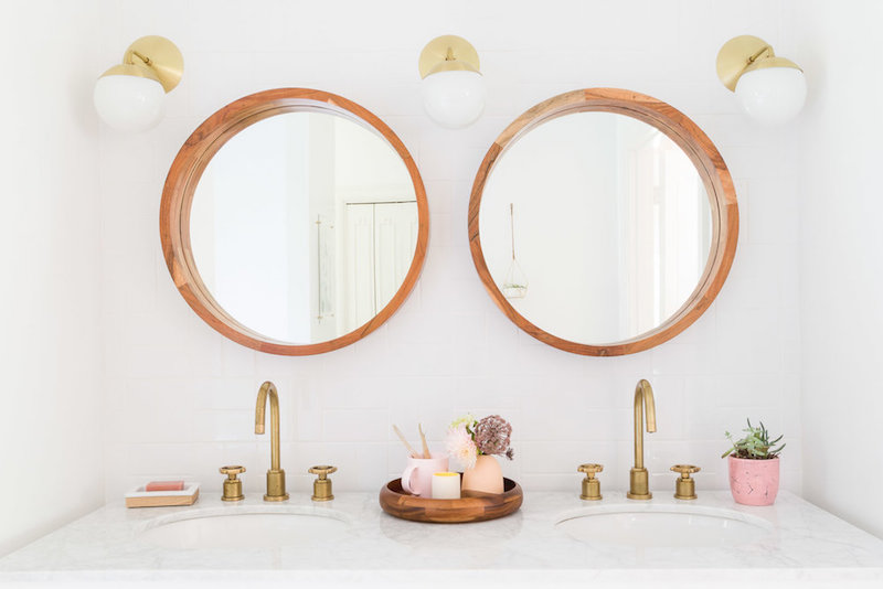 Double vanity bathroom by Alyssa Rosenheck