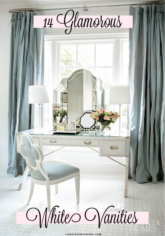 Favorite glam white vanities