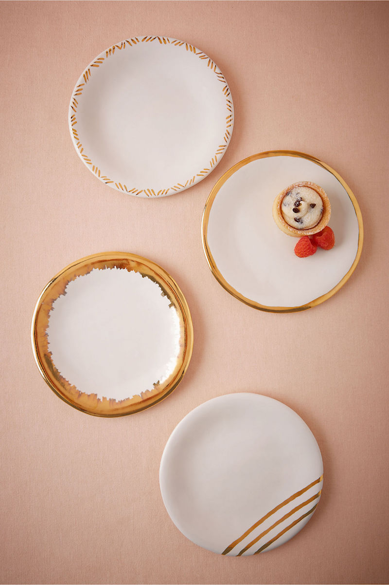 Gilded Gold Plates by BHLDN