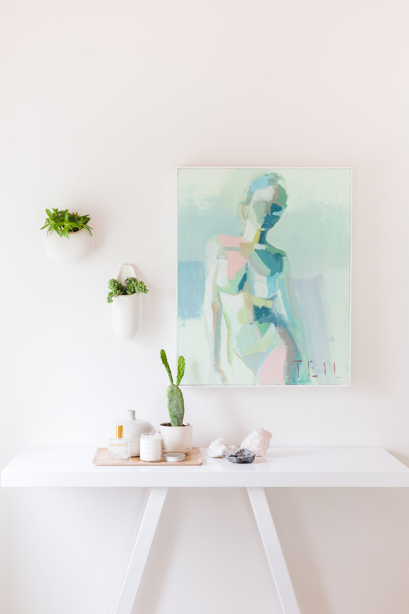 Mint green body artwork via Alyssa Rosenheck