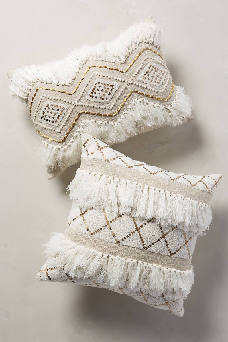 Nude moroccan throw pillows