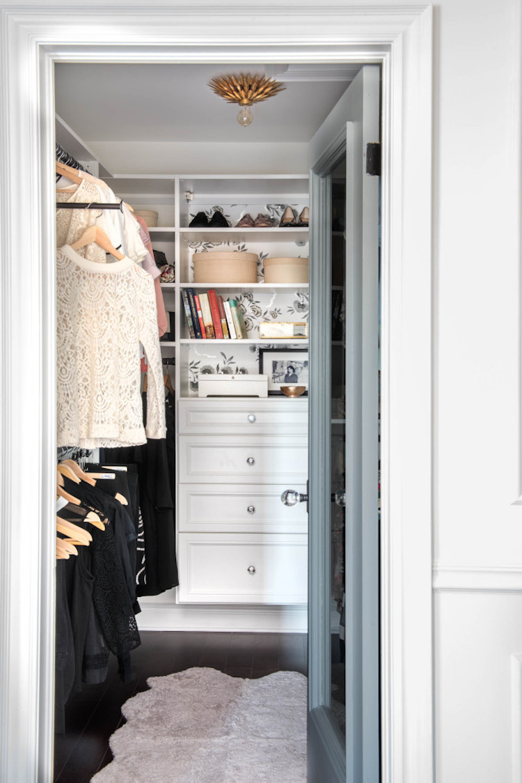 Parisian bedroom closet