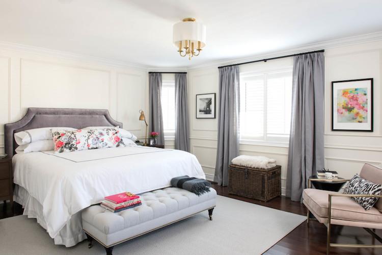 Parisian Bedroom. Parisian bedroom with grey headboard A Stunning Bedroom Update