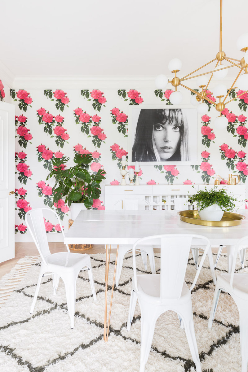 Pink floral wallpaper by Alyssa Rosenheck