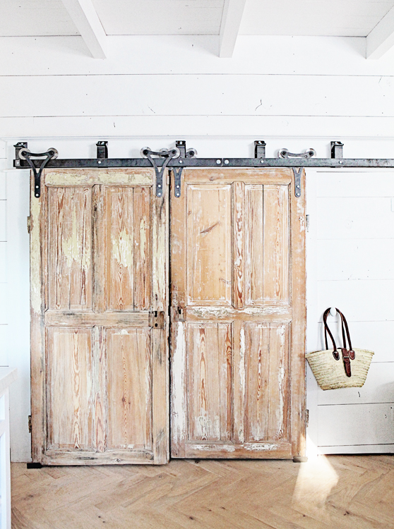 Rustic wooden doors interior design