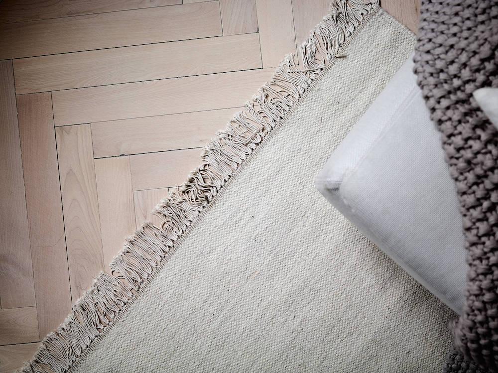 Scandinavian rugs on hardwood floors