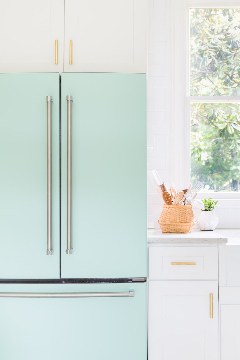 Soft green refrigerator by Alyssa Rosenheck