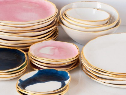 24 Pieces of Gilded-Rim Tableware You'll Adore!