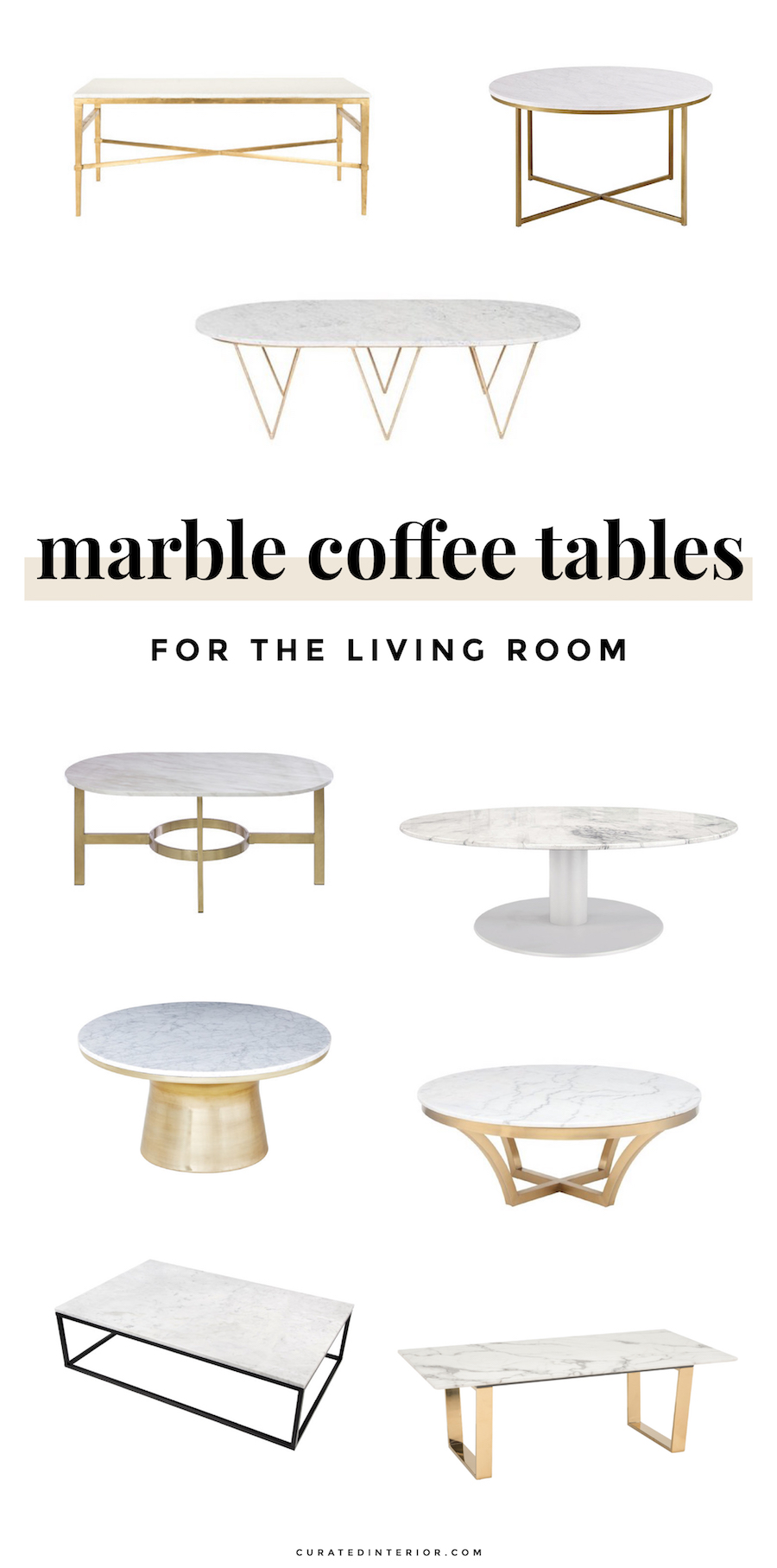 Shop White Marble Coffee Tables For the Home