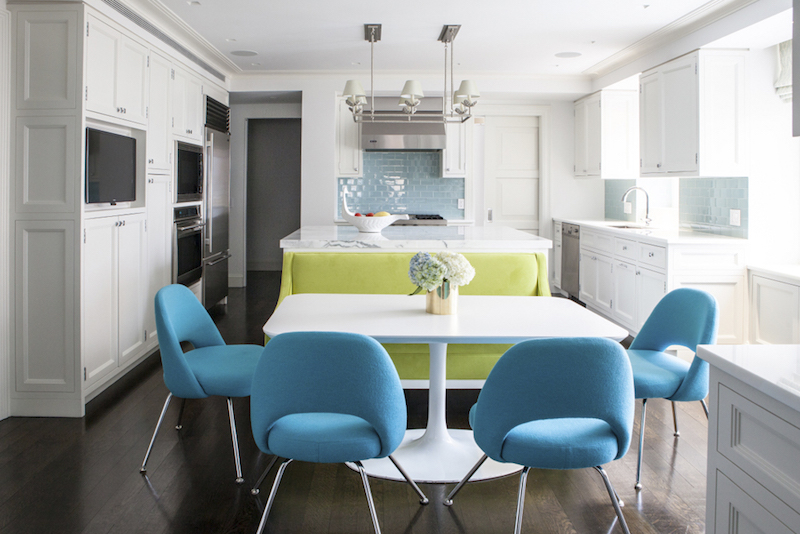 Blue and green kitchen via Lilly Bunn