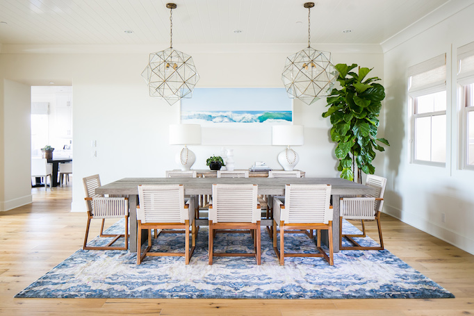 Coastal dining room designed by Becki Owens