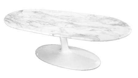 Fine Mod Imports FMI10177-white Squaval Marble Coffee Table White