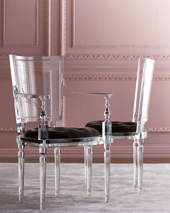 Katherine Acrylic Side Chair Via Neiman Marcus