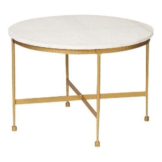 Marble Top Metal Coffee Table
